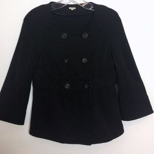 J. Crew black blazer jacket wool women's S